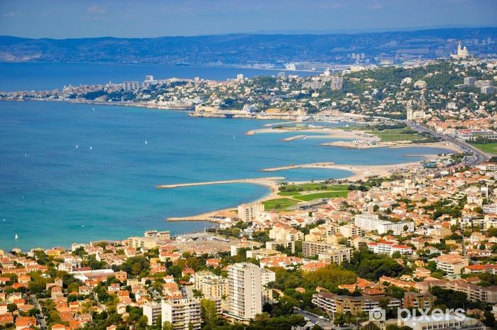Vinylová fototapeta Pohlednice - Dobrá matka hlídat Marseille - Vinylová fototapeta
