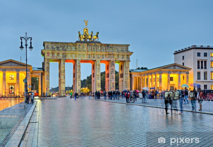 Vinyl Fotobehang Brandenburger Tor in Berlin - Berlijn