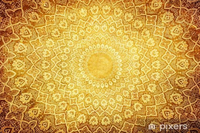 Naklejka Pixerstick Grunge z orientalnymi ornamentami. - Style