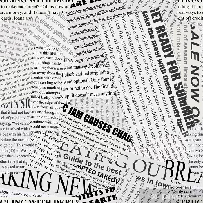 Newsprint Background Pixerstick Sticker -