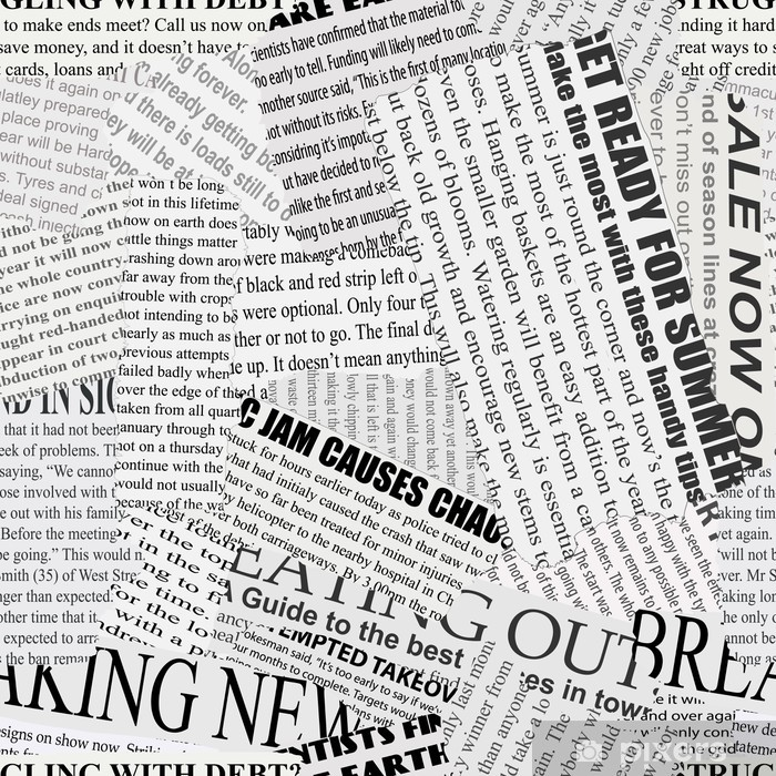 Newsprint Background Washable Wall Mural -