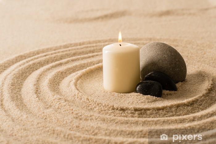 Carta Da Parati Spa Candela Atmosfera Zen Pietre In Sabbia Pixers Viviamo Per Il Cambiamento