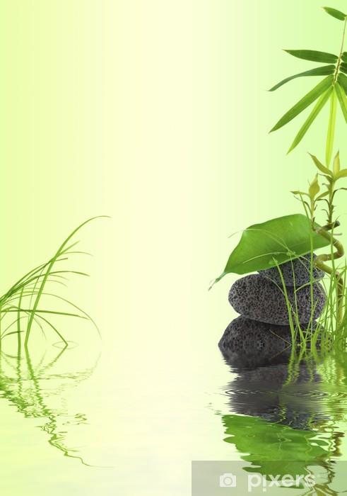 Fototapeta winylowa Bambus ustawienie natura, trawa, rolki liści na - Tematy