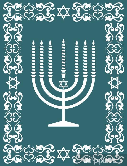 Jewish menorah design , vector illustration Pixerstick Sticker - Religion
