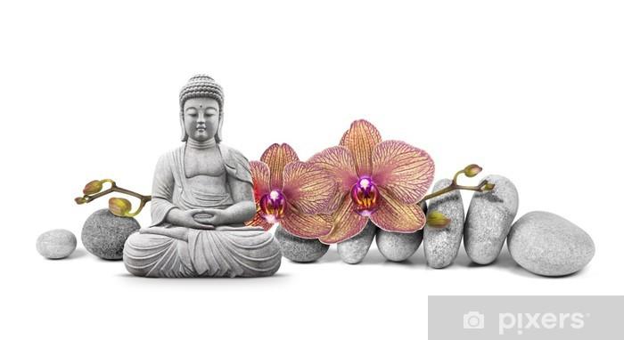 Pixerstick Sticker Boeddha en Welzijn - Muursticker