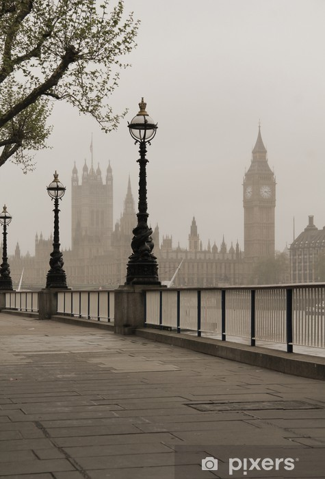 Adesivo Pixerstick Big Ben e Houses of Parliament - Temi