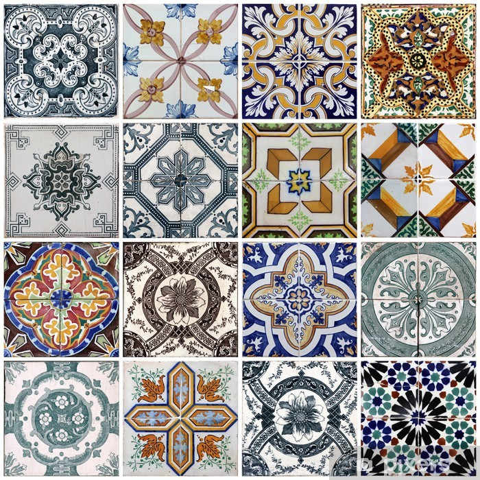 Lisbon tiles Self-Adhesive Wall Mural - Tiles