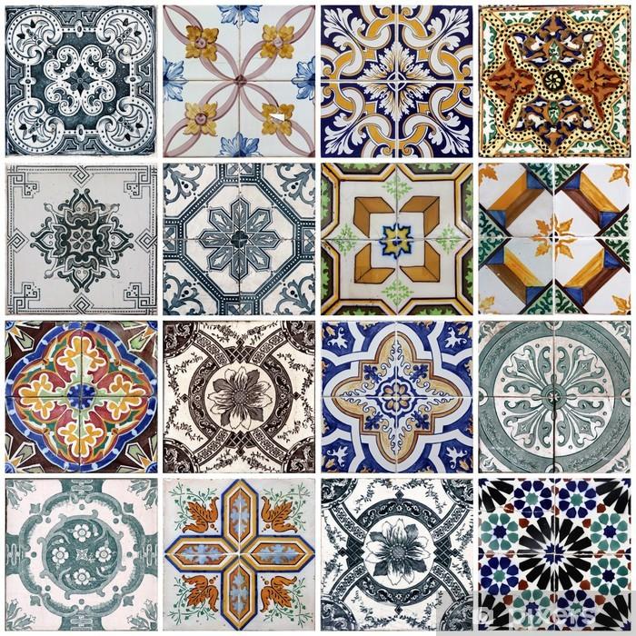 Vinilo Pixerstick Azulejos de Lisboa - Azulejos