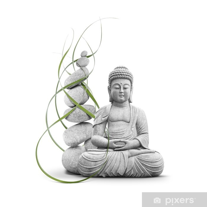 Bouddha et Bien-être Framed Poster - Wall decals
