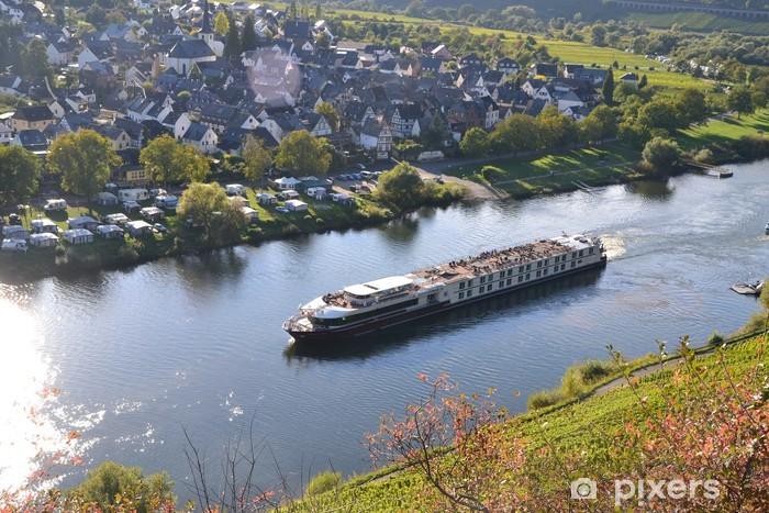 Sticker Pixerstick Excursion en bateau sur la Moselle - Vacances