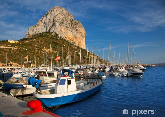 Calpe in alicante with Penon Ifach mountain Vinyl Wall Mural - Holidays