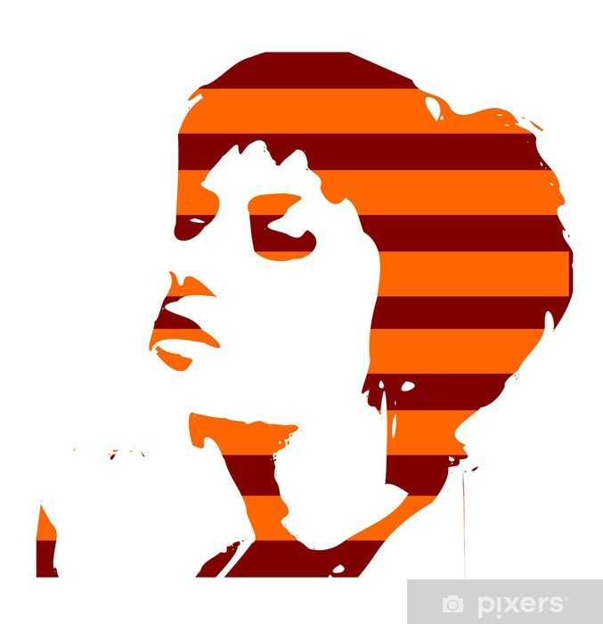 Papier peint vinyle Pop art portret - Femmes