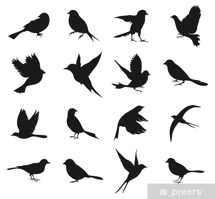 Silhouette of birds2 Pixerstick Sticker - Birds