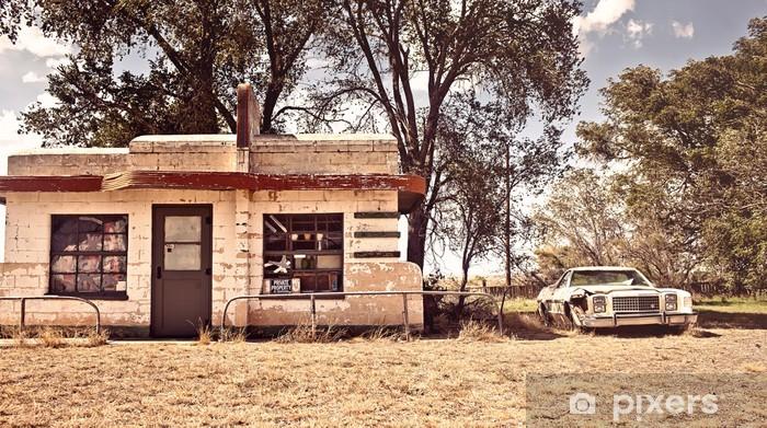 Afwasbaar Fotobehang Verlaten gedineerd op route 66 in New Mexico - Onderweg