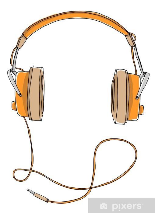 Naklejka Pixerstick Słuchawki rocznika - Naklejki na ścianę