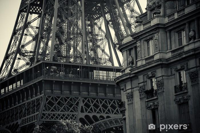 Naklejka Pixerstick Czarny i biały Tour Eiffel - Style