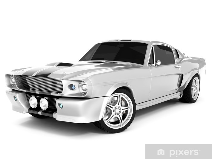 Vinyl-Fototapete Silvery Classical Sports Car - Straßenverkehr