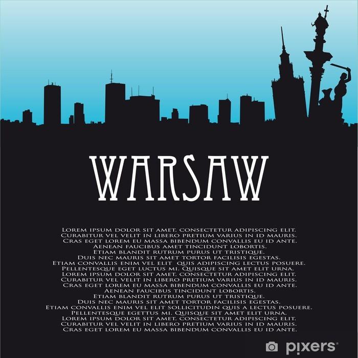 Papier peint vinyle Vecteur de fond avec Varsovie - Villes européennes