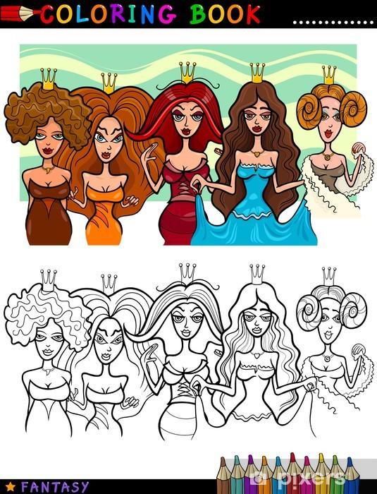 Nálepka Pixerstick Fantasy Princezny nebo Queens pro barvení - Jiné pocity