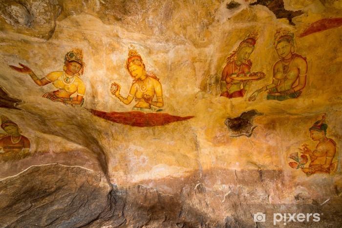 Carta Da Parati Pitture Murali Antiche A Palazzo Di Sigiriya Lion Rock Pixers Viviamo Per Il Cambiamento