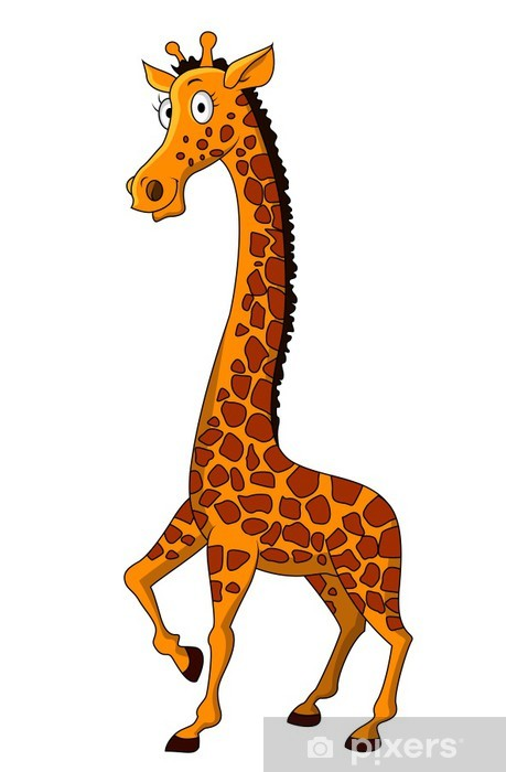Youth Room Themes: Giraffe Cartoon Wall Mural • Pixers®