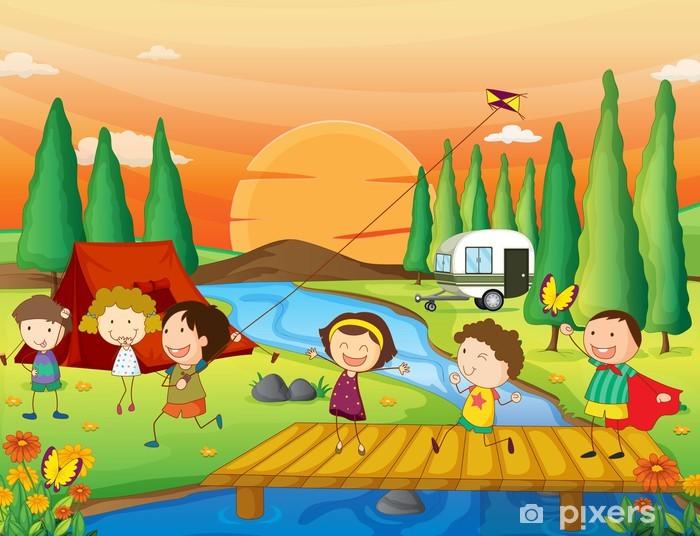 534d1f61bfd35d Fototapete Kinder spielen in der Natur • Pixers® - Wir leben