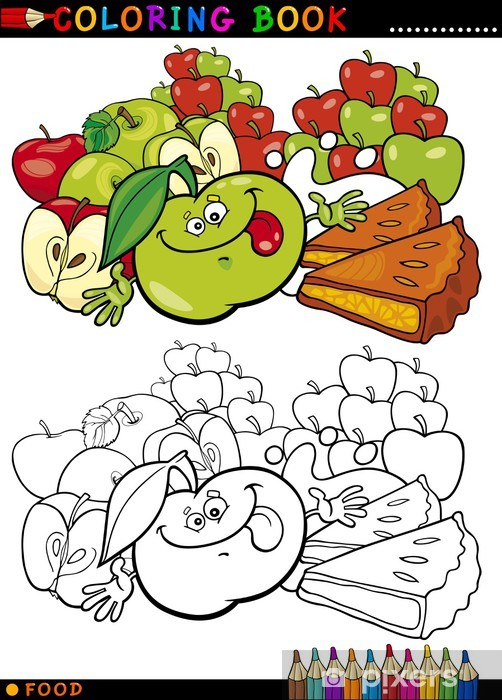 Boyama Elma Ve Pasta Duvar Resmi Pixers Haydi Dünyanızı