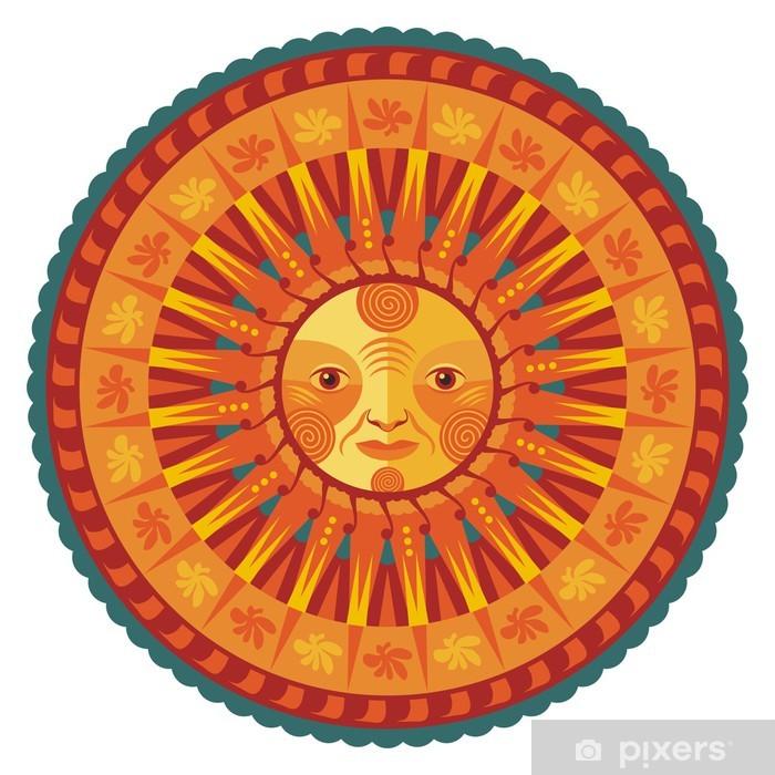 Plakát Dekorativní Letní Mandala - Nálepka na stěny