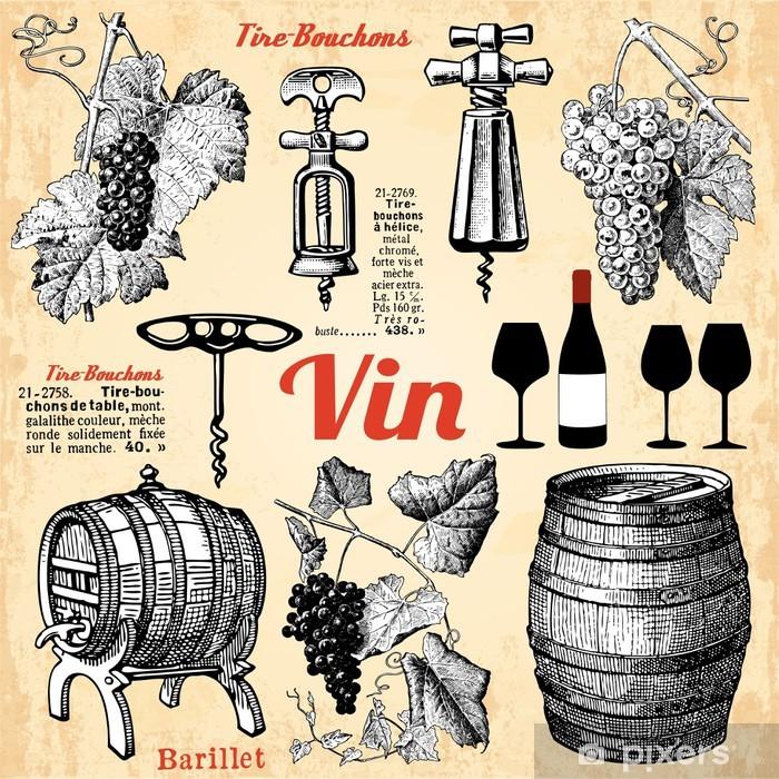 Le vin Poster - Textures