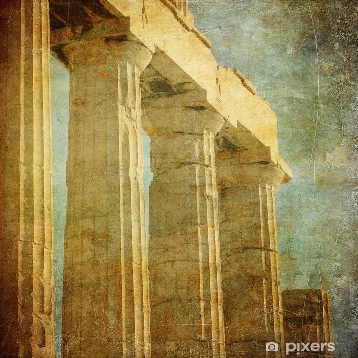 Fotomural Estándar Imagen de la vendimia de columnas griegas, la Acrópolis, Atenas, Grecia - Estilos