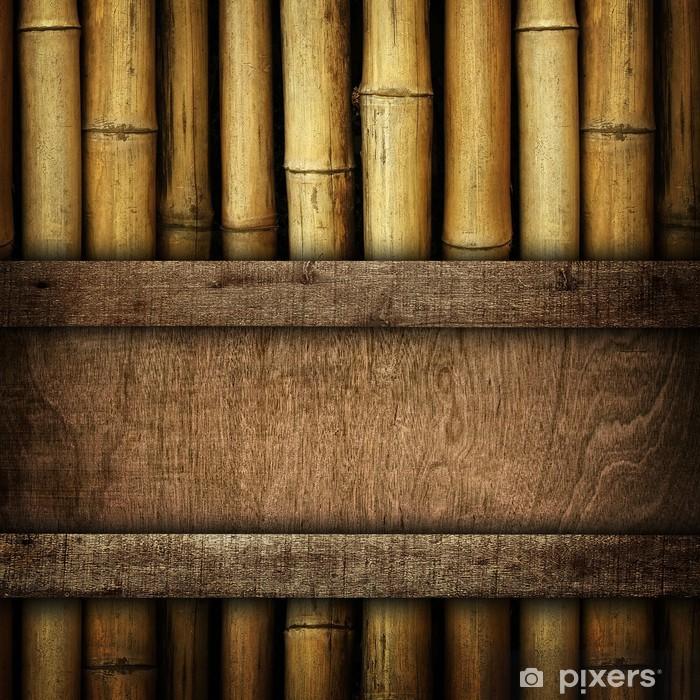 Aufkleber Holzplatte Auf Bambus Pixers Wir Leben Um Zu Verandern