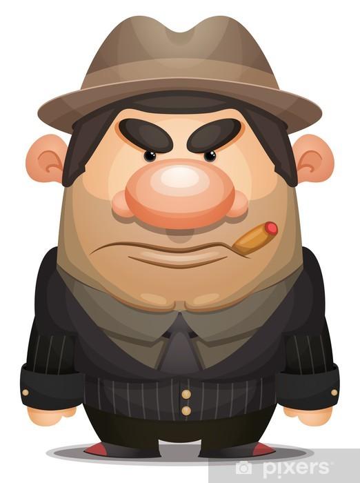 Naklejka Pixerstick Mobster Cartoon - Mężczyźni