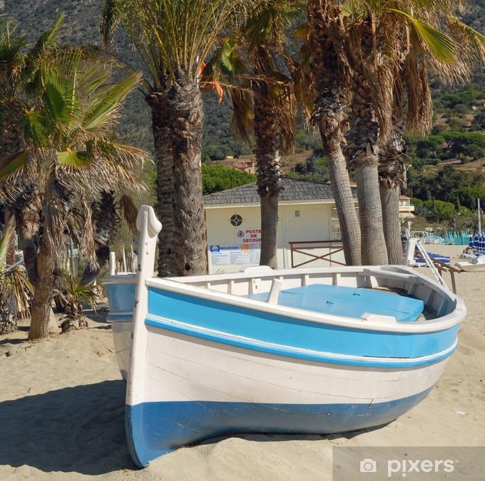Plakat Boot am Strand von St Clair - Europa