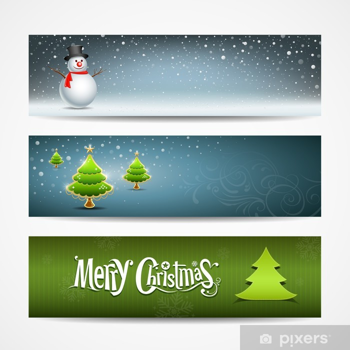 Christmas Banners.Merry Christmas Banners Set Design Vector Wall Mural Vinyl