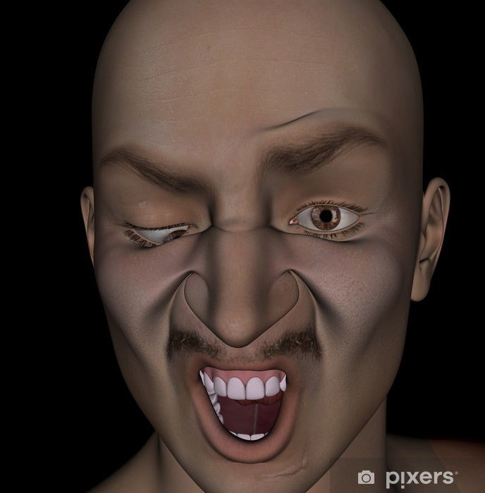 deformed face man - 688×700