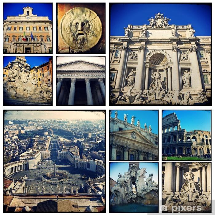 Carta da parati collage roma pixers viviamo per il for Carta da parati roma