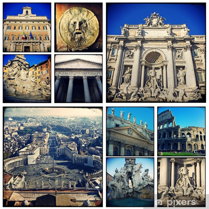 Papier peint vinyle Collage - Roma - Villes européennes