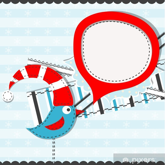 Poster Modèle christmas greeting card, vector - Fêtes internationales