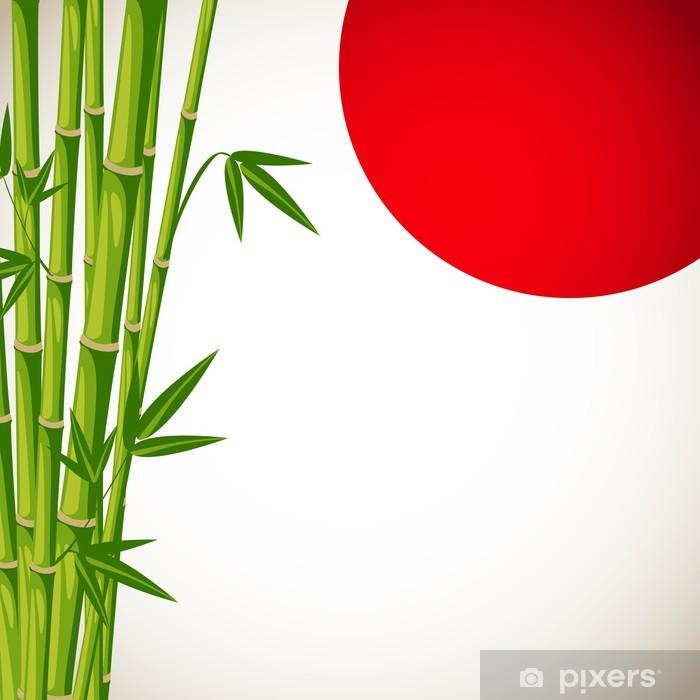 Bon Sticker Japon Vecteur De Fond Avec Du Bambou Pixerstick
