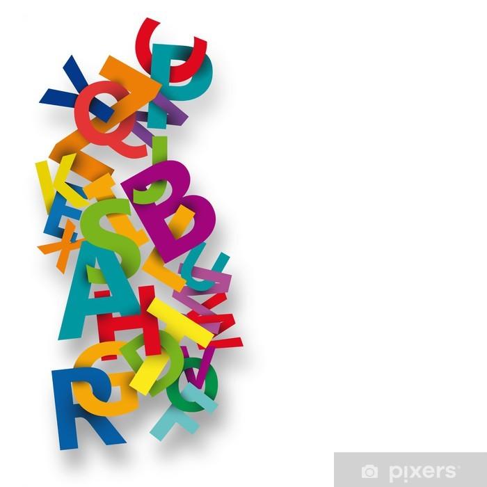Adesivo Astratto Colore Di Alfabeto Su Sfondo Bianco Vector
