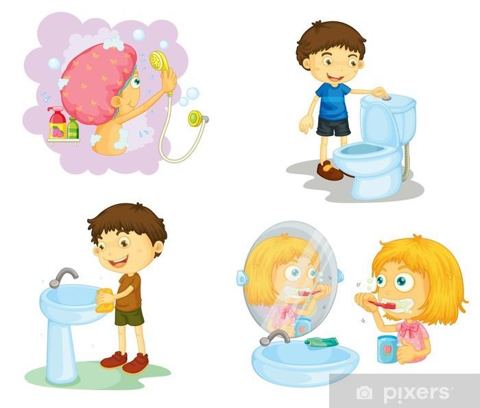 Accessori Da Bagno Adesivi.Adesivo Bambini E Accessori Per Il Bagno Pixers Viviamo Per Il