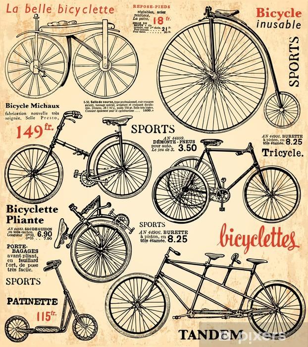Fond Vélo 2 Pixerstick Sticker - Styles