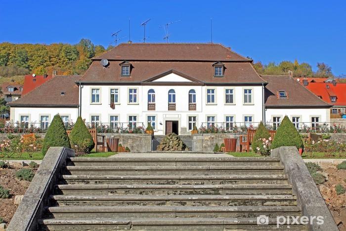 Nálepka Pixerstick Ebrach: Abteigarten mit Orangerie (Franken, Bavorsko) - Prázdniny