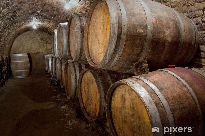 Fototapeta winylowa Beczki - Alkohol