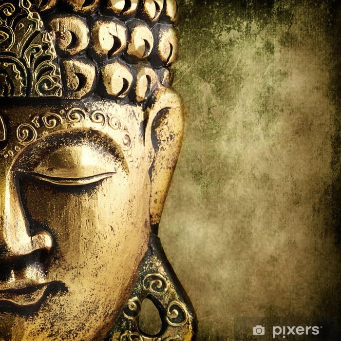 golden Buddha Pixerstick Sticker - Styles