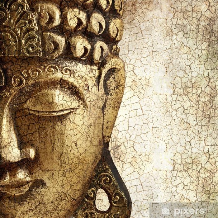 Sticker Pixerstick Vieux Bouddha - Styles