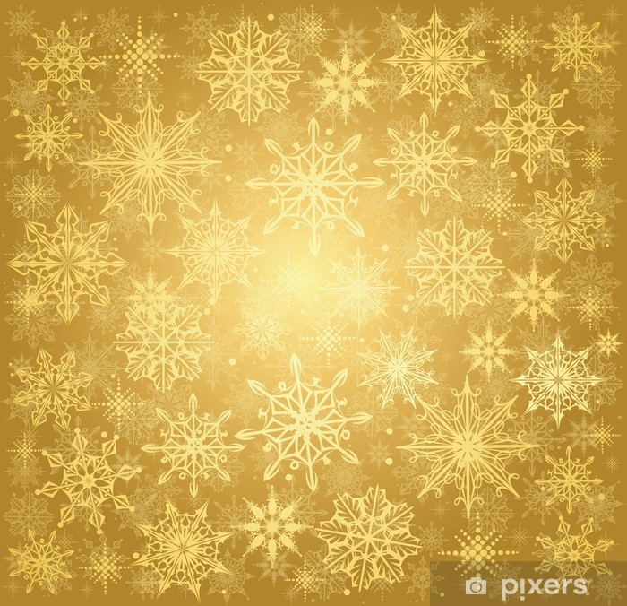 Christmas Background Images Gold.Golden Christmas Background Wall Mural Vinyl