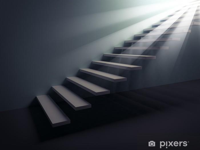 Papier peint vinyle Escaliers vers la lumière - Thèmes