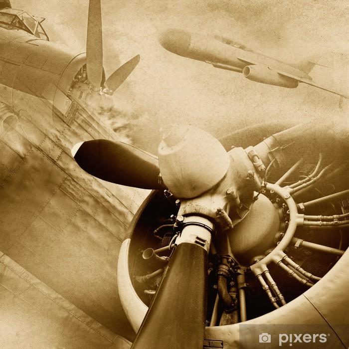 Vinyl Fotobehang Retro luchtvaart vintage achtergrond -