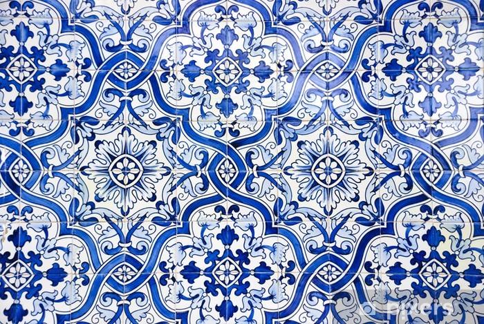 Pixerstick Sticker Portugese tegels, tegels - Abstractie